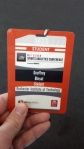 My badge for SSAC 13! So official!