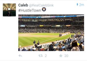 Yankee Stadium Tweet
