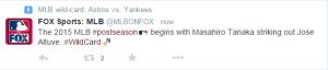 MLB On Fox Twitter Moment