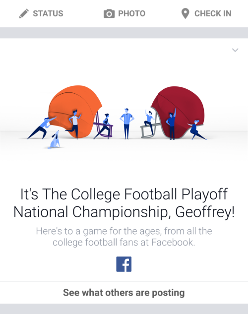 College Football Facebook