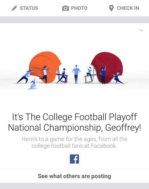 College Football Facebook