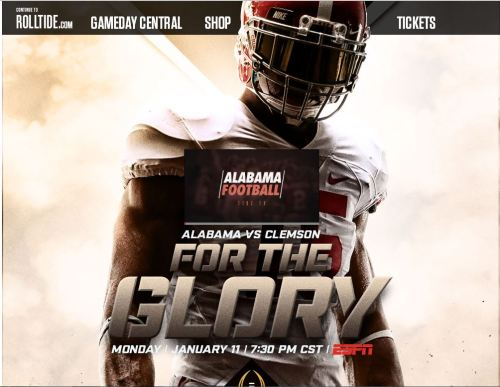 Alabama Website National Championship