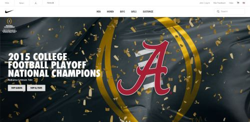 Nike US Football Website
